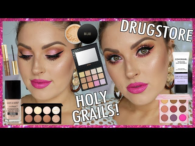 Chit Chat GRWM!  The BEST DRUGSTORE MAKEUP! Holy Grails