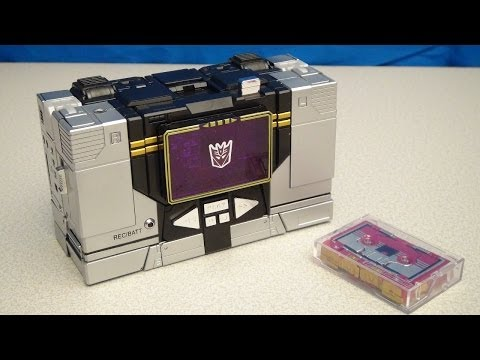 TRANSFORMERS MASTERPIECE SOUNDBLASTER AND RATBAT VIDEO TOY REVIEW