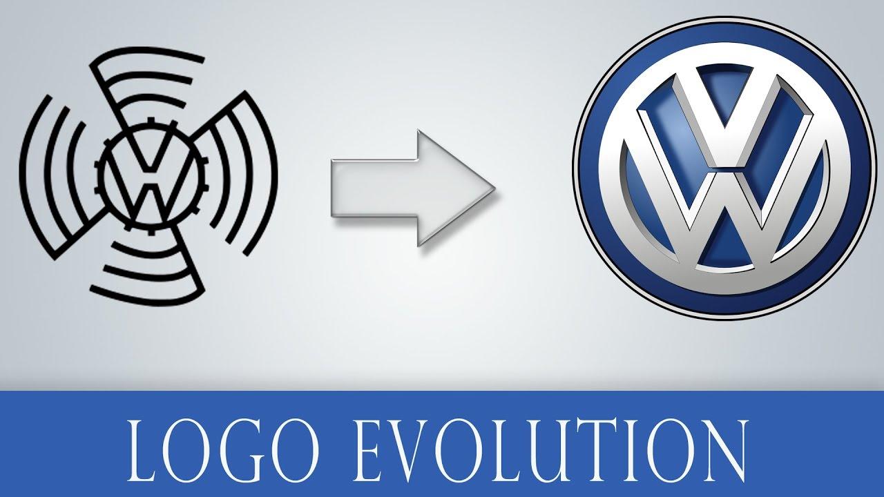 logo evolution volkswagen logo history   youtube