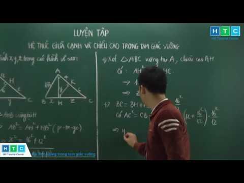 Hệ thức lượng trong tam giác vuông [Thầy Thinh]