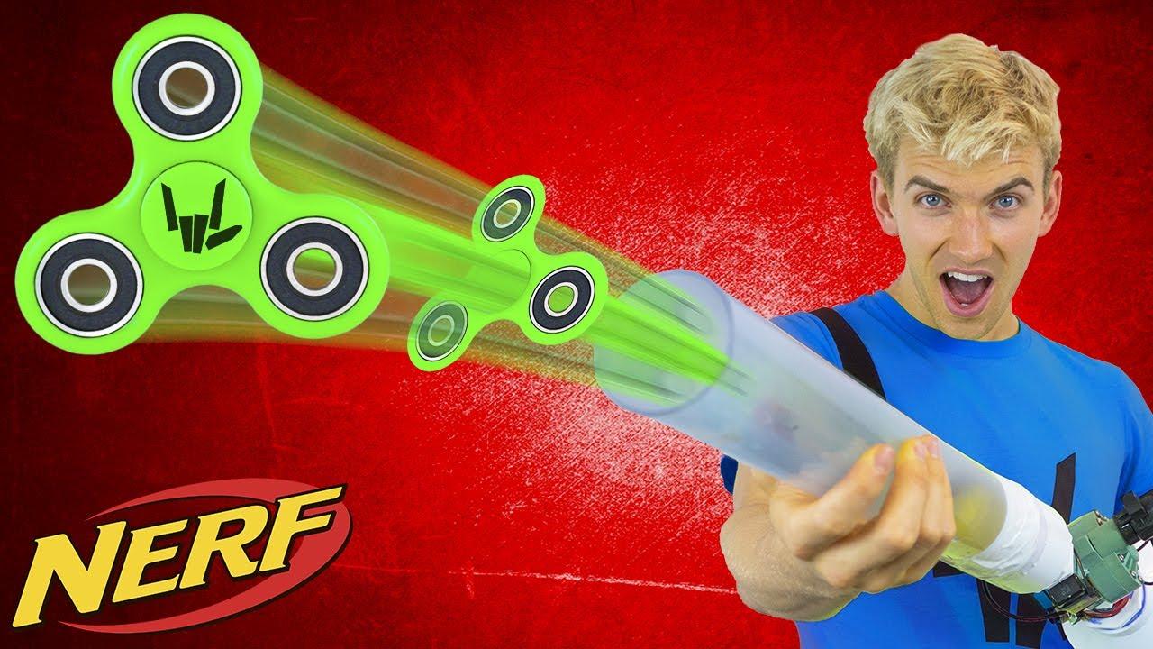 FIDGET SPINNER NERF GUN!! - YouTube Stephen Sharer Youtube