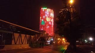 Trang trí chiếu sáng đèn LED tòa nhà vpbank 2 PHU THANH LED
