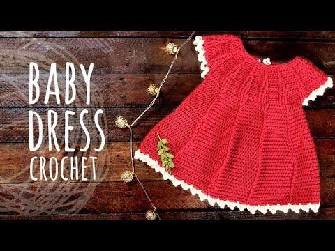 fe066db5f Tutorial Easy Baby Crochet Dress - YouTube