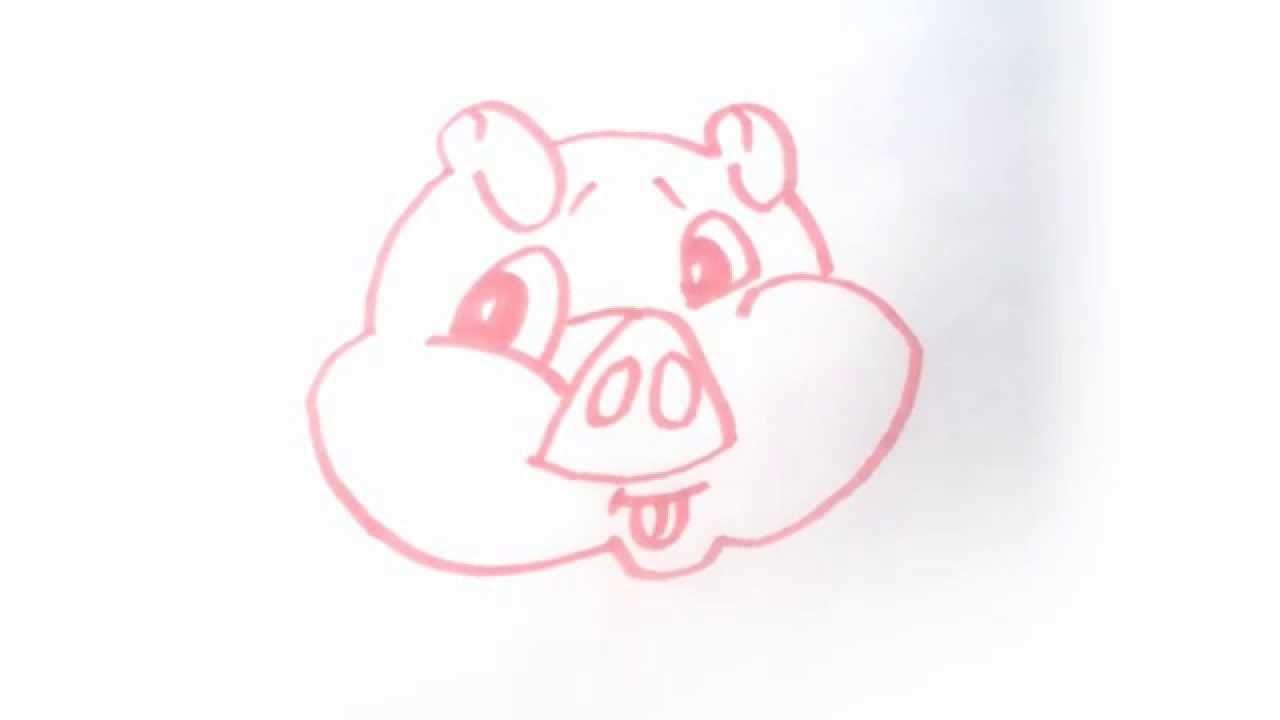 Dessiner un cochon draw a pig youtube - Cochon a dessiner ...