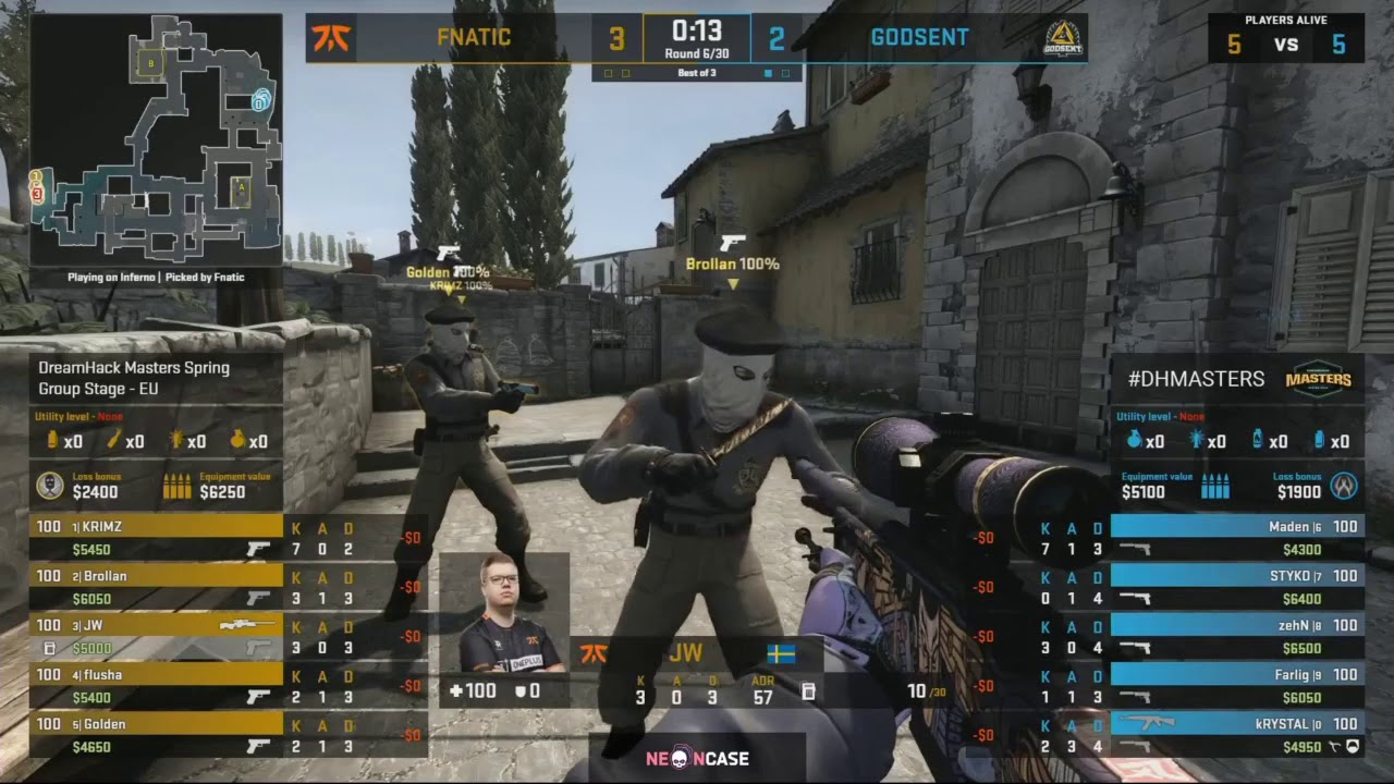 Godsent Vs Fnatic