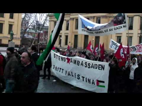 Gaza peace demo in Oslo