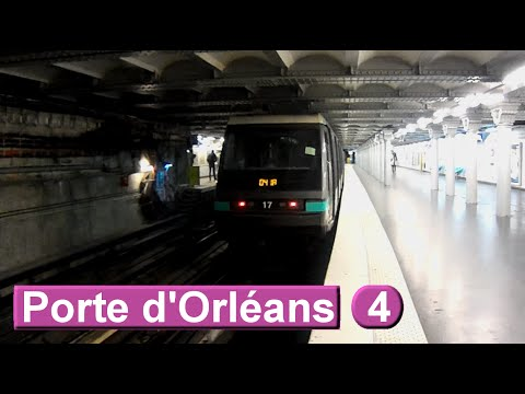 m tro de paris porte d 39 orl ans ligne 4 ratp mp89 2014 youtube. Black Bedroom Furniture Sets. Home Design Ideas