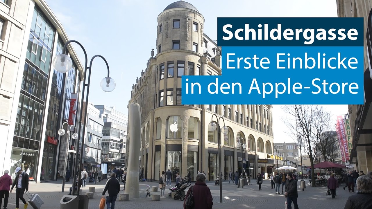 apple store auf der k lner schildergasse youtube. Black Bedroom Furniture Sets. Home Design Ideas