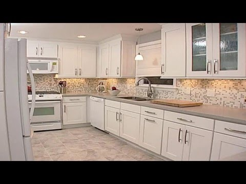 white kitchen backsplash pots and pans ideas with cabinets