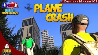plane crash a3l fooligans ep2 arma 3 life funny random moments