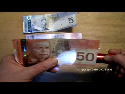 Easy Counterfeit Currency Detection For Canadian Bills-Quick Check Of Your Money