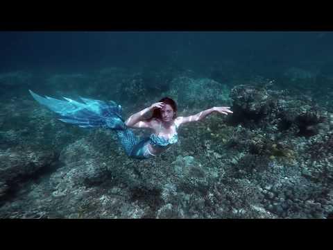 Mermaid Christin Offshore of Big Island Hawaii- TEASER CLIP