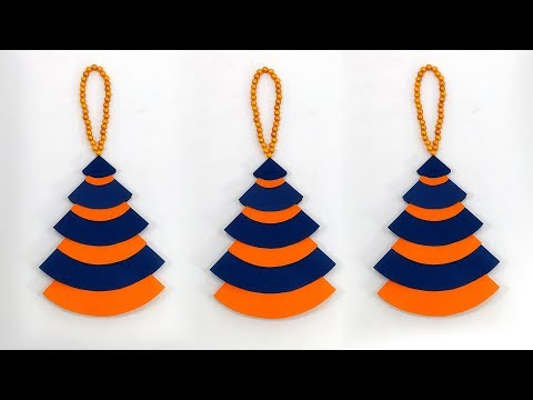 DIY Crafts: Paper Christmas Tree Ornaments | Easy Hanging Christmas Decoration Ideas With Paper
