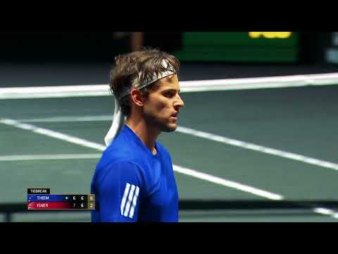 Laver Cup: Dominic Thiem and Marin Cilic help Bjorn Borg's Europe take a 3-1 lead