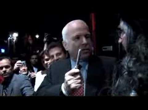 John McCain talks to Paul Revere or Ben Franklin?