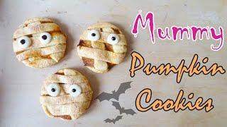 [halloween Recipe 萬聖節食譜] How To Make Mummy Pumpkin Cookies  木乃伊南瓜曲奇