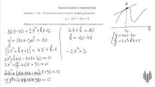 Подготовка к ЕГЭ по математике. Задача B9: касательные и уравнение с параметром