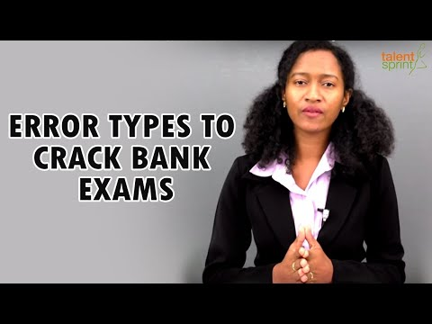 Top 10 error types in Finding errors for bank exams   Spotting errors tricks   TalentSprint