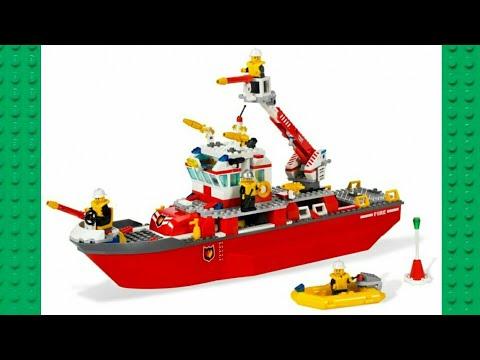 Lego Bateau City 7207 Des Le Pompier wnmNv08O