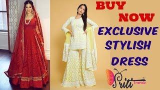 Buy Designer & Stylish Salwar Kameez #Redembroideredsuit #Festivedress #plazo ll www.prititrendz.com
