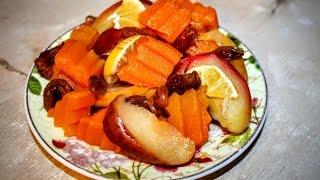 Тушёная тыква с яблоком изюмом курагой в спец кастрюле (другой способ готовки )