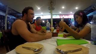 Bodybuilder in Thailand   Hanging Out at Dinner With Enhanced Athlete Crew & Thai Girls