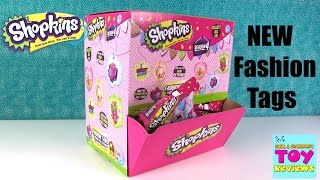 Shopkins New Fashion Tags Season 4 Limited Edition Necklace Blind Bags Opening | PSToyReviews