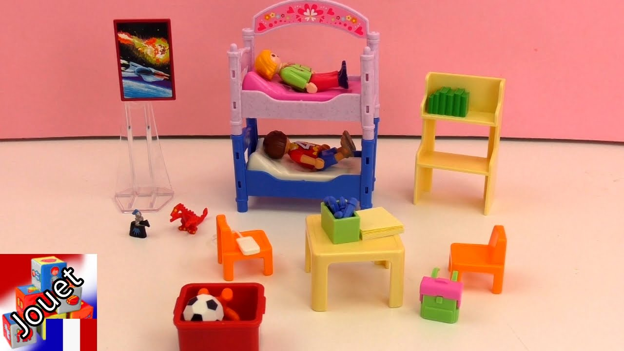 Chambre color e d enfants playmobil 5306 dollhouse for Chambre playmobil