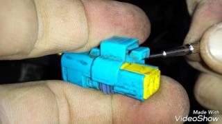 как разобрать электрический разъём (фишку) Пежо Peugeot 2.0hdi