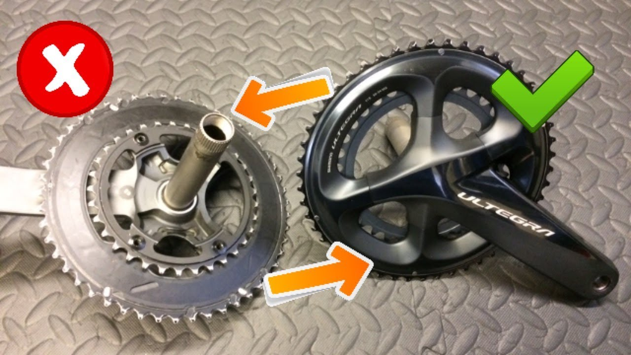 d1ae1a7b43f Ultegra R8000 Chainrings On 6800 Crank arms? - YouTube