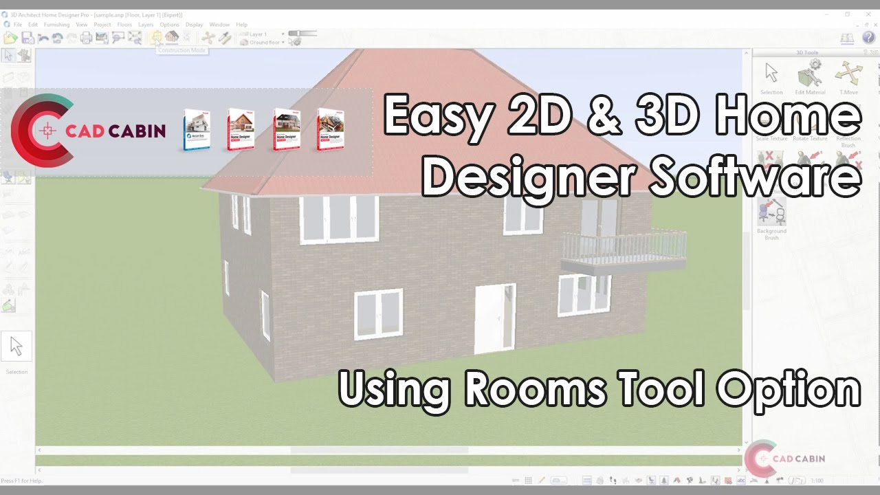Adding Roof 3d Architect Software Tutorial Youtube