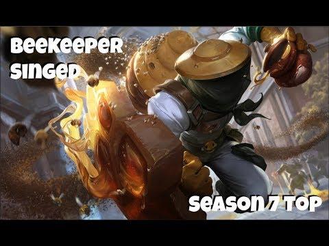 League Of Legends Beekeeper Singed Top Gameplay
