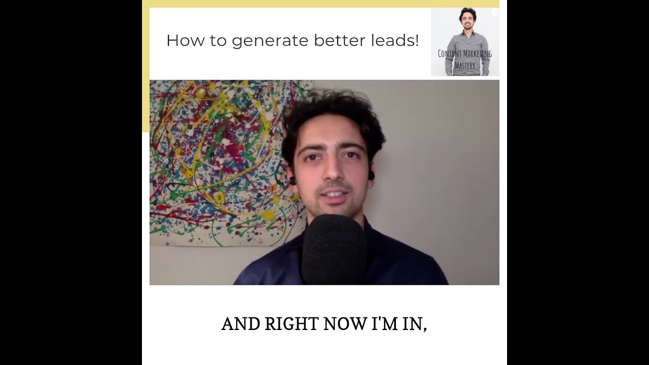 How to generate better leads!
