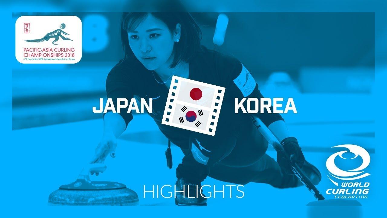 HIGHLIGHTS: Japan v Korea - Women - Round Robin - Pacific-Asia Curling Championships 2018
