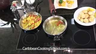 Fried Dumpling And Plantain On Caribbean Cooking Tv