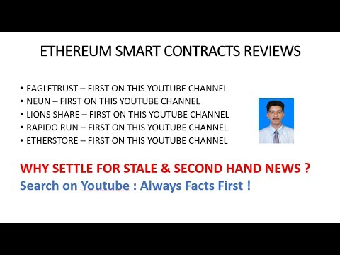 Ethereum Smart Contract Reviews First ( Why Settle For Stale Reviews?)
