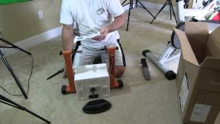 conquer indoor bicycle cycling trainer exercise stand unboxing