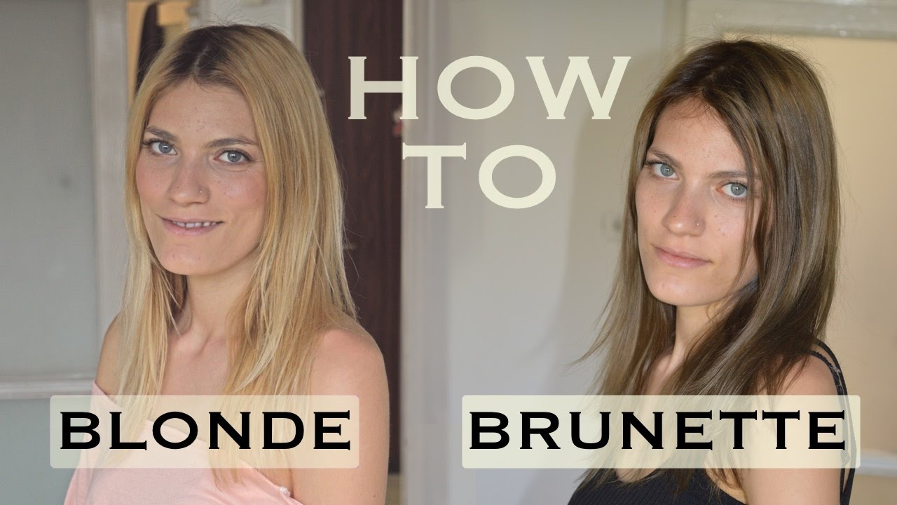 Diy how to dye your hair at home from blonde to brunette youtube diy how to dye your hair at home from blonde to brunette solutioingenieria Choice Image