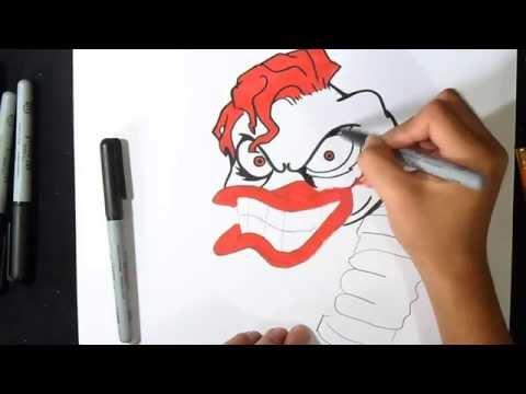 Comment Dessiner Un Clown Graffiti Youtube