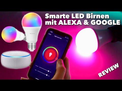 Smarte Led Rgb Gluhbirnen Mit Farbwechsel Amazon Alexa Google Assistant Ifttt Test Review Youtube