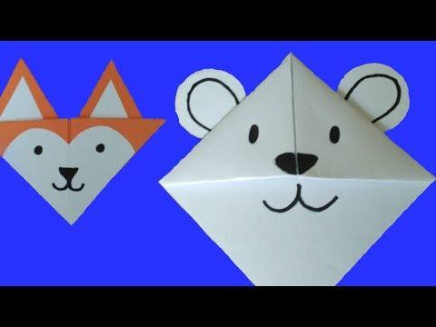 11 DIY Cute Arctic Animals Corner Bookmarks for Kids - Origami-inspired paper crafts コーナーブックマーク 角书签