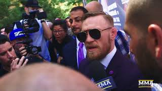 Conor McGregor Discusses Run-In With Team Mayweather Prior to Grand Arrivals - MMA Fighting