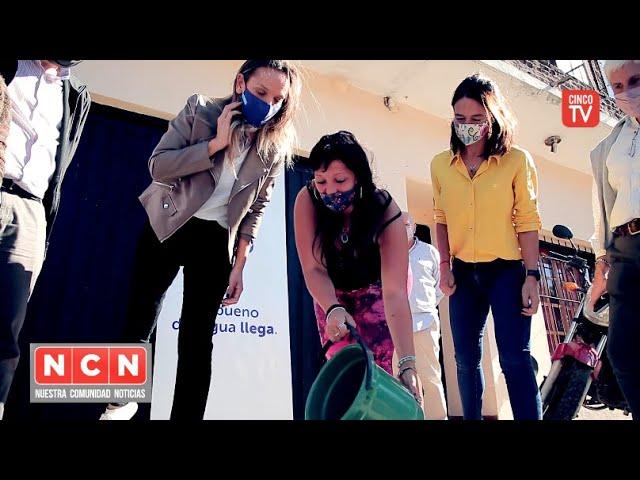 CINCO TV - Malena Galmarini inauguró una nueva red cloacal para 8500 vecinos de Gral. Pacheco