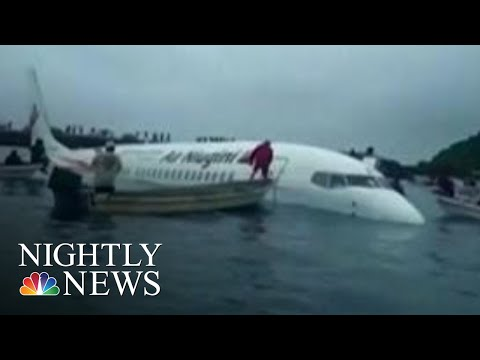 Airplane Makes Miracle Water Landing After Missing Runway In Micronesia | NBC Nightly News