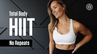 1 Hour // No Repeat HIIT Workout