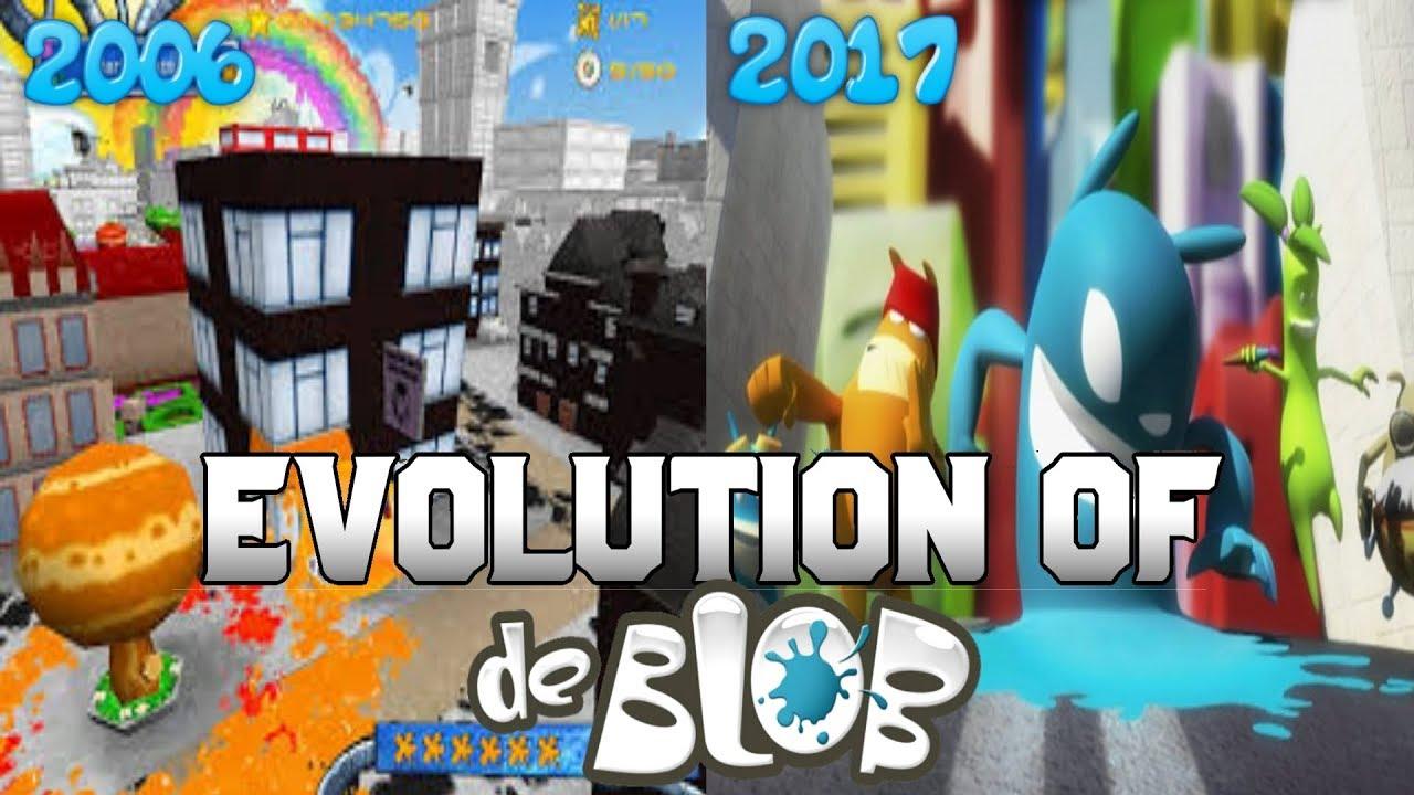 Graphical Evolution of de Blob (2006-2017)