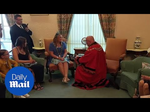 Newly Elected Mayor Proposes To Partner In Full Ceremonial Robes