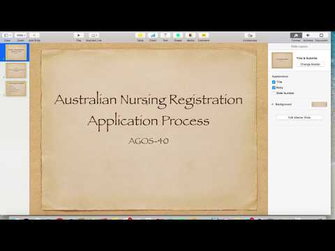 Australia nursing registration AGOS 40 form filling and submission for overseas nurses