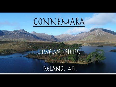 Connemara National Park.  The beautiful scenery of Ireland in 4K