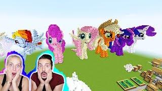 MY LITTLE PONY LUCKY BLOCK BATTLE! Kaan + Nina reagieren auf die zauberhafte Welt in Minecraft